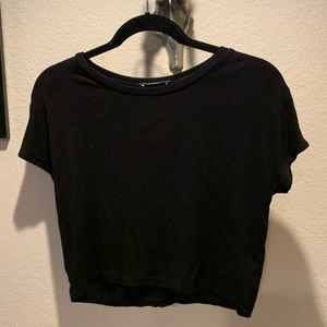 Zara black cropped t shirt